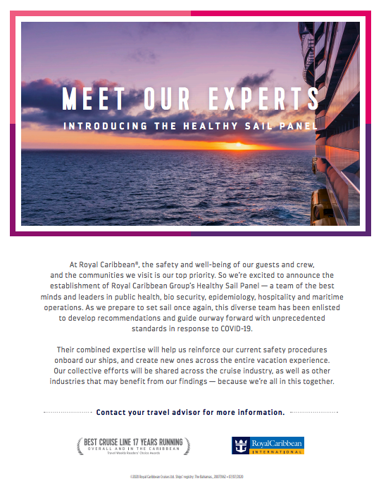 Royal Caribbean Healthy Sail Panel Flyer
